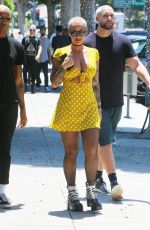 AMBER ROSE Out and About in Beverly Hills 07/24/2018