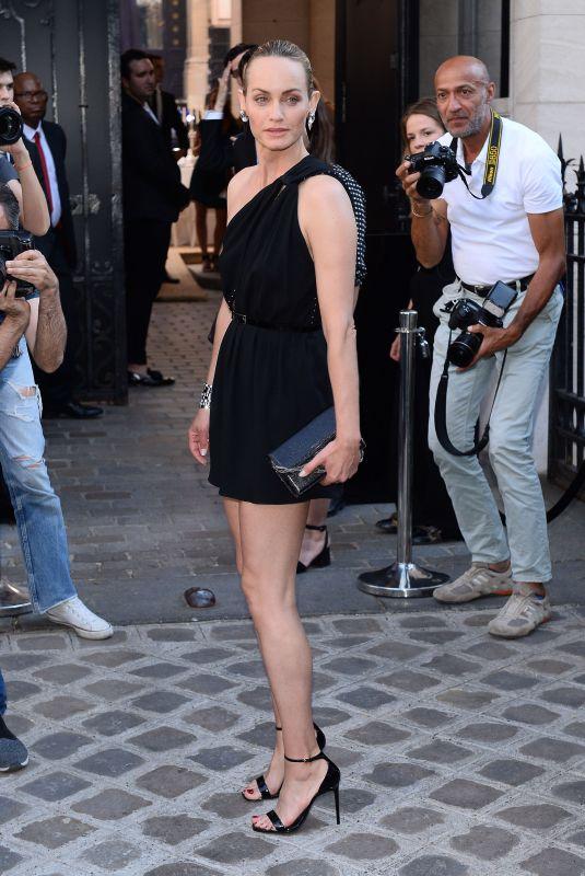 AMBER VALLETTA Arrives at Vogue Dinner Party in Paris 07/03/2018