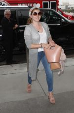 AMY ADAMS at LAX Airport in Los Angeles 07/17/2018
