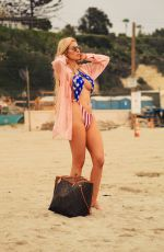 ANA BRAGA in Swumsuit at a Beach in Malubu 07/01/2018