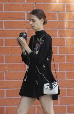ANGELA SARAFYAN Out Shopping in Venice 07/19/2018
