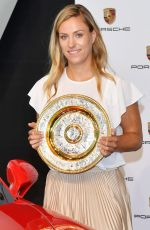 ANGELIQUE KERBER at a Press Conference in Stuttgart 07/17/2018