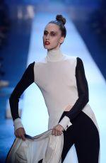 ANNA CLEVELAND at Jean Paul Gaultier Runway Show at Paris Fashion Week 07/04/2018
