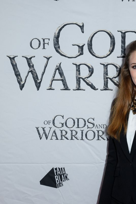 ANNA DEMETRIOU at Of Gods and Warriors Premiere in London 07/19/2018