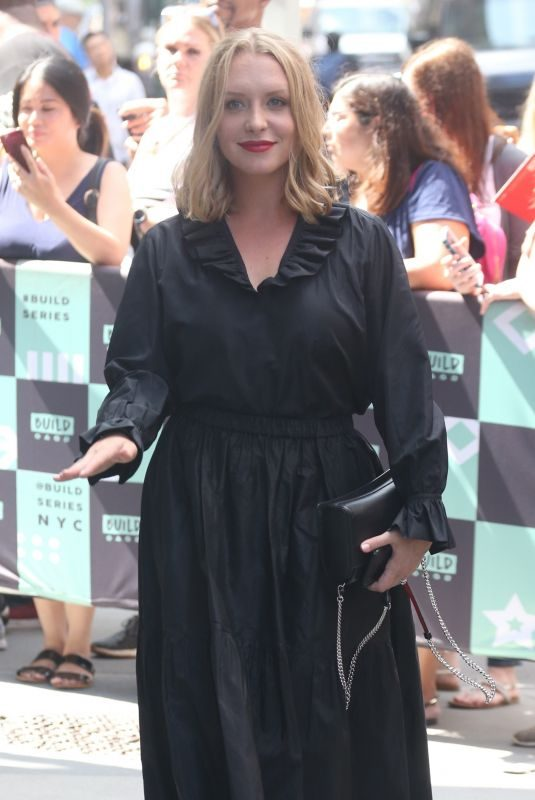 ANNIE STARKE Arrives at AOL Build Series in New York 07/26/2018