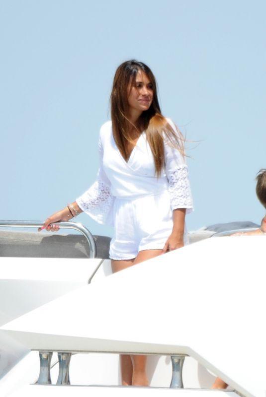 ANTONELLA ROCCUZZO at a Yacht in Sevilla 07/18/2018