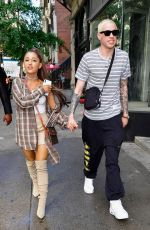ARIANA GRANDE and Pete Davidson Shopping at Barney