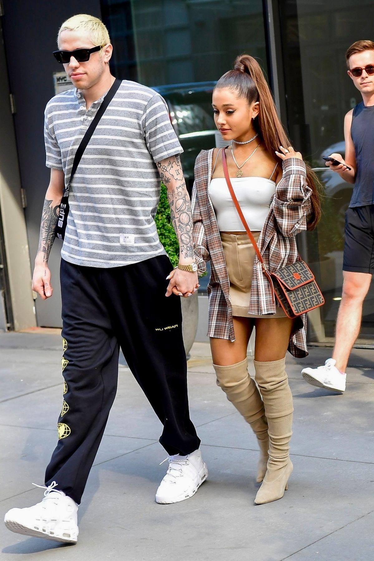 Ariana Grande and Pete Davidson: Shopping at Barneys New