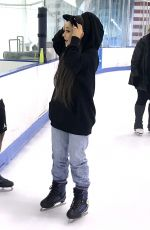 ARIANA GRANDE Out Ice Skating in New York 07/06/2018