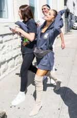 ARIANA GRANDE Out with Friends in New York 07/10/2018