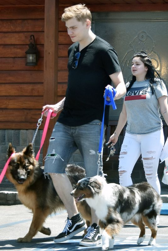 ARIEL WINTER and Levi Meaden Out with Their Dogs in Los Angeles 07/03/2018