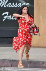 ARIEL WINTER at a Nail Salon in Studio City 07/09/2018