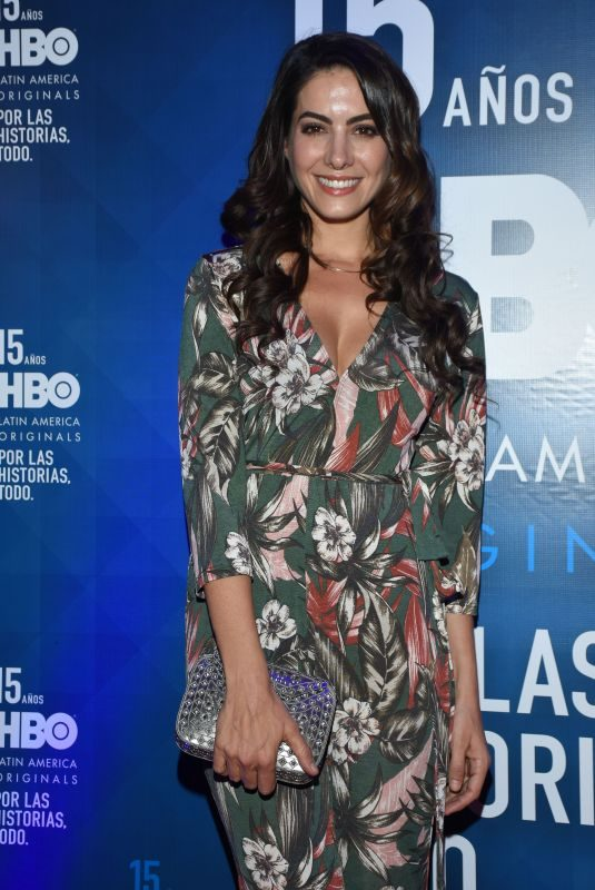 AROA GIMENO at HBO Latin America 15th Anniversary in Mexico City 07/18/2018