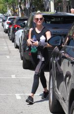 ASHLEE SIMPSON Leaves Tracy Anderson Studio in New York 07/19/2018