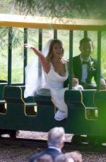 ASHLEY GREENE and Paul Khoury at Their Wedding Reception in San Jose 07/07/2018
