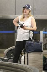 ASHLEY JOHNSON at LAX Airport in Los Angeles 07/11/2018