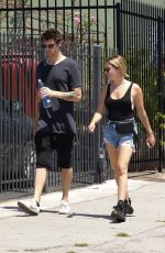 ASHLEY TISDALE in Jeans Shorts Out in Los Angeles 07/14/2018