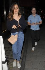 AUBREY PLAZA in Jeans at Sexy Fish in Mayfair 07/18/2018