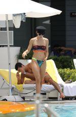 AURORA RAMAZZOTTI in Bikini at a Pool in Miami 07/20/2018