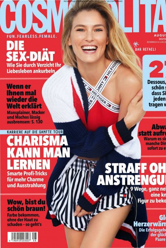 BAR REFAELI in Cosmopolitan Magazine, Germany August 2018