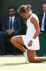 BARBORA STRYCOVA at Wimbledon Tennis Championships in London 07/06/2018