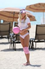 BASKIN CHAMPION in Bkini Bottom at a Volleyball Photoshoot in Miami 07/14/2018