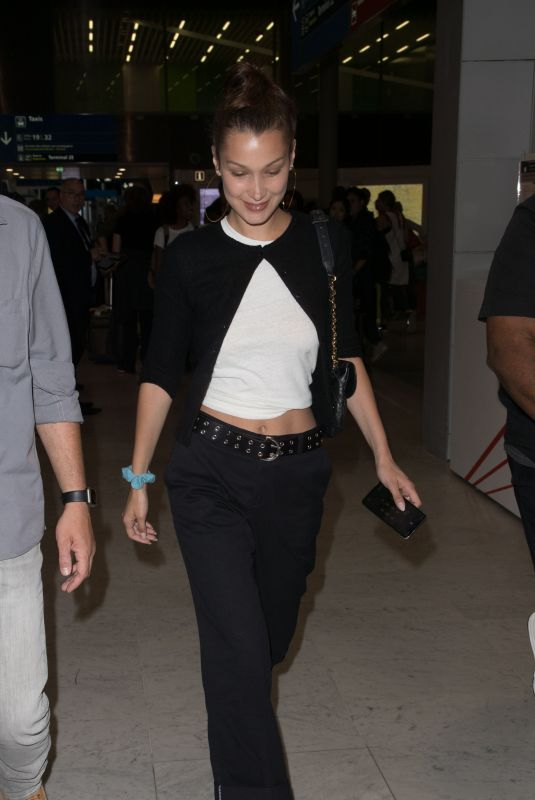 BELLA HADID at Charles De Gaulle Airport in Paris 07/09/2018