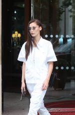 BELLA HADID Leaves Her Hotel in Paris 06/29/2018