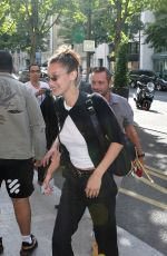 BELLA HADID Out and About in Paris 07/09/2018