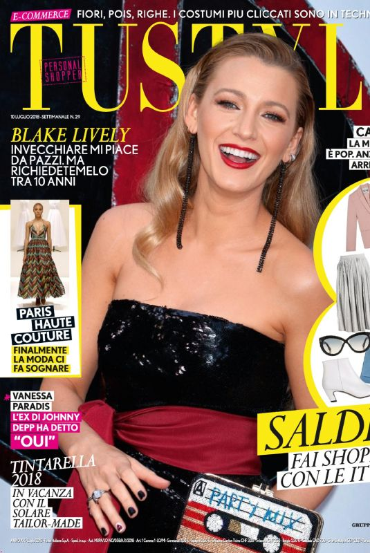 BLAKE LIVELY in Tu Style Magazine July 2018 Issue
