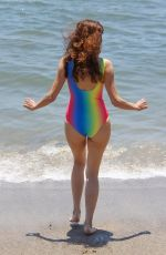BLANCA BLANCO in Swimsuit at a Beach in Malibu 07/23/2018