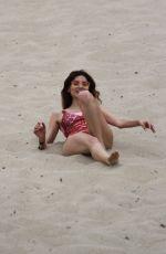 BLANCA BLANCO in Swimsuit on a Sandy Hill in Malibu 07/03/2018