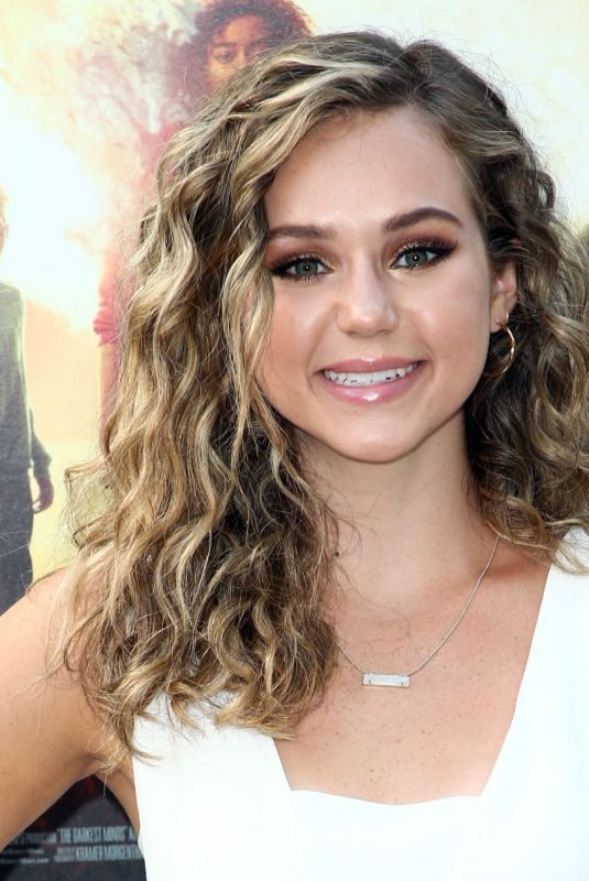 BREC BASSINGER at The Darkest Minds Screening in Los Angeles 07/26/2018