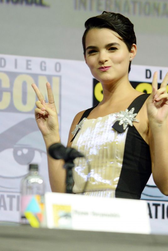 BRIANNA HILDEBRAND at Deadpool Panel at Comic-con in San Diego 07/21/2018