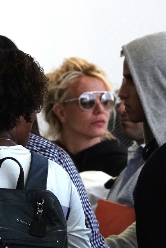 BRITNEY SPEARS at Los Angeles International Airport 07/10/2018