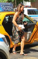 BROOKE SHIELDS Leaves a Taxi in New York 07/09/2018