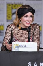 CAITY LOTZ at Legends of Tomorrow Panel at Comic-con in San Diego 07/21/2018