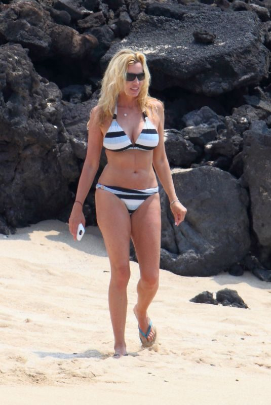 CAMILLE GRAMMER in Bikini on the Beach in Hawaii 07/04/2018