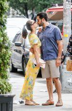 CARA SANTANA and Jesse Metcalfe Out in Soho 07/21/2018