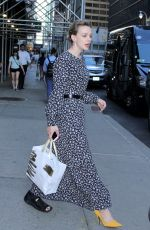 CAREY MULLIGAN Wears Ankle Brace at Late Show with Stephen Colbert in New York 07/09/2018
