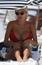 CAROLINE VREELAND in Bikini at a Beach in Miami 07/03/2018