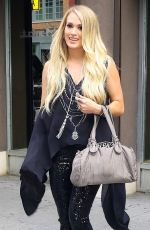 CARRIE UNDERWOOD Leaves Electric Lady Studio in New York 07/04/2018