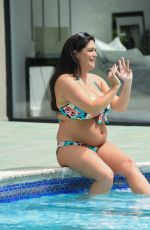 CASEY BATCHELOR in Bikini at a Pool in Marbella 07/05/2018