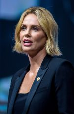 CHARLIZE THERON at Aids Conference 2018 in Amsterdam 07/24/2018