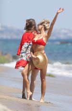 CHARLOTTE MCKINNEY in Bikini at a Beach Los Angeles 07/05/2018