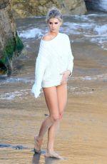 CHARLOTTE MCKINNEY in Bikini Bottom on the Set of a Photoshot in Malibu 07/08/2018