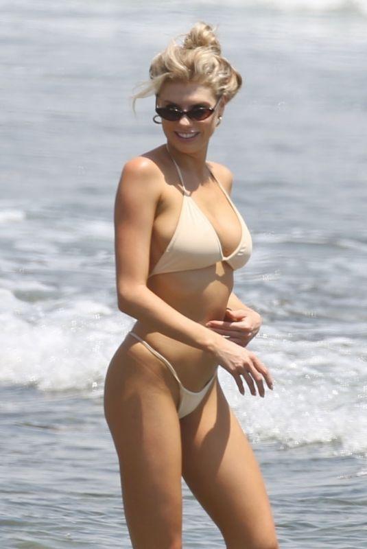 CHARLOTTE MCKINNEY in Bikini on the Beach in Malibu 07/08/2018