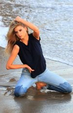 CHARLOTTE MCKINNEY on the Set of a Photoshoot at a Beach in Malibu 07/06/2018