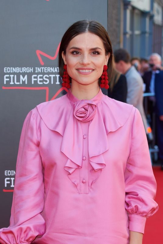 CHARLOTTE RILEY at Swimming with Men Premiere at 72nd Edinburgh International Film Festival 07/01/2018
