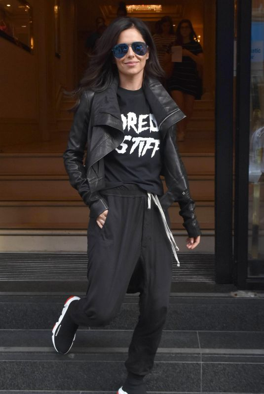 CHERYL COLE Leaves Her Hotel in Dublin 07/23/2018